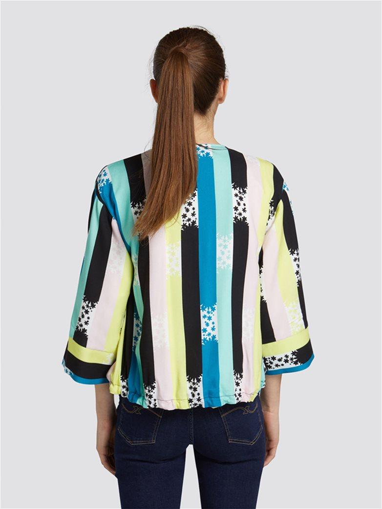 c314a29dfbea Trussardi Jeans γυναικεία ζακέτα με ρίγες και print 1