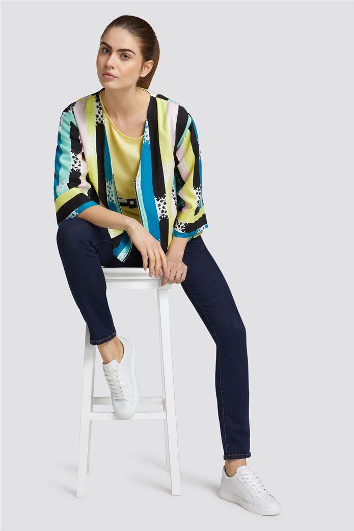 eb1760b92d74 Trussardi Jeans γυναικεία ζακέτα με ρίγες και print 2