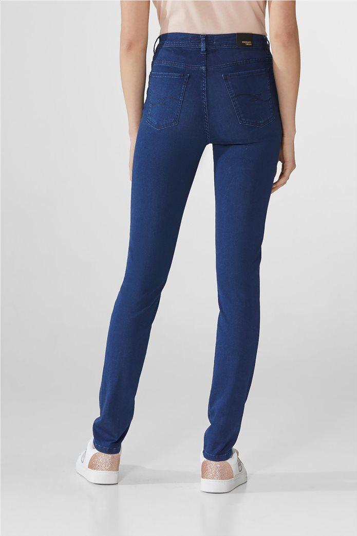 Trussardi γυναικείο τζην παντελόνι ''105'' Μπλε Σκούρο 2