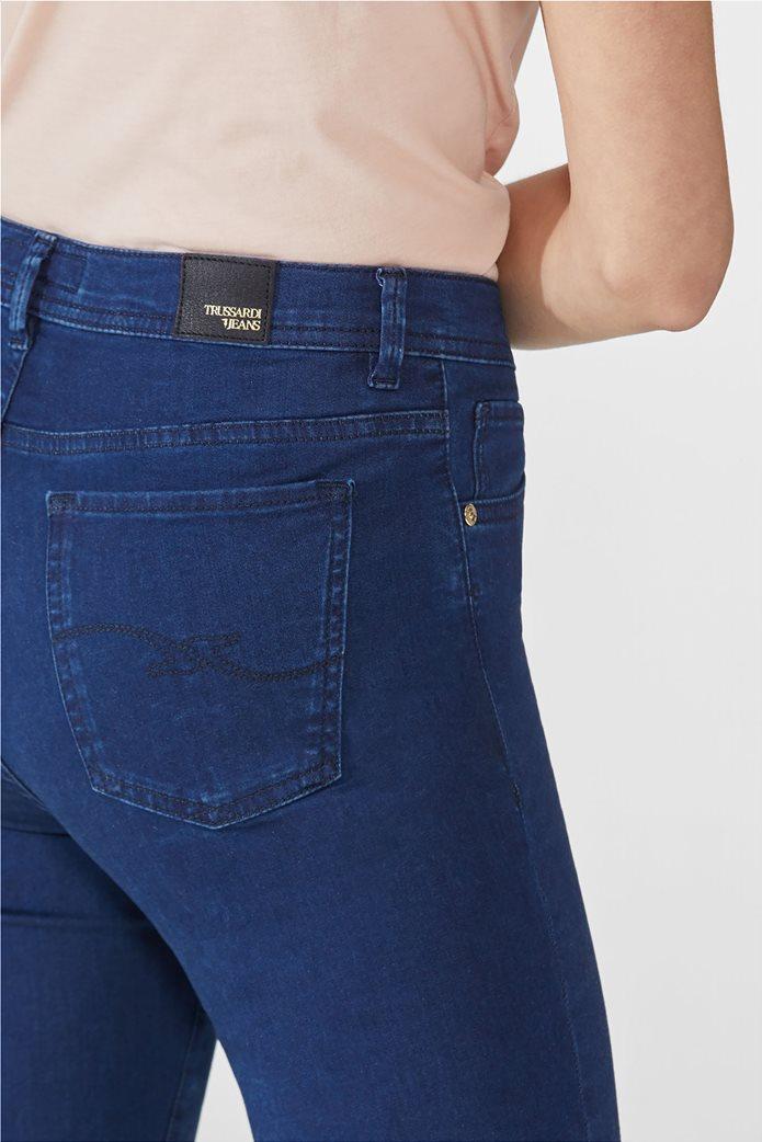 Trussardi γυναικείο τζην παντελόνι ''105'' Μπλε Σκούρο 4