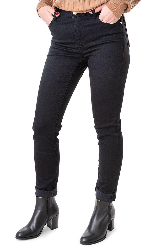 Trussardi Jeans γυναικείο τζην παντελόνι πεντάτσεπο με logo print 1