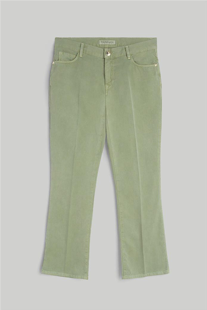 Trussardi γυναικείο cropped παντελόνι πεντάτσεπο 3