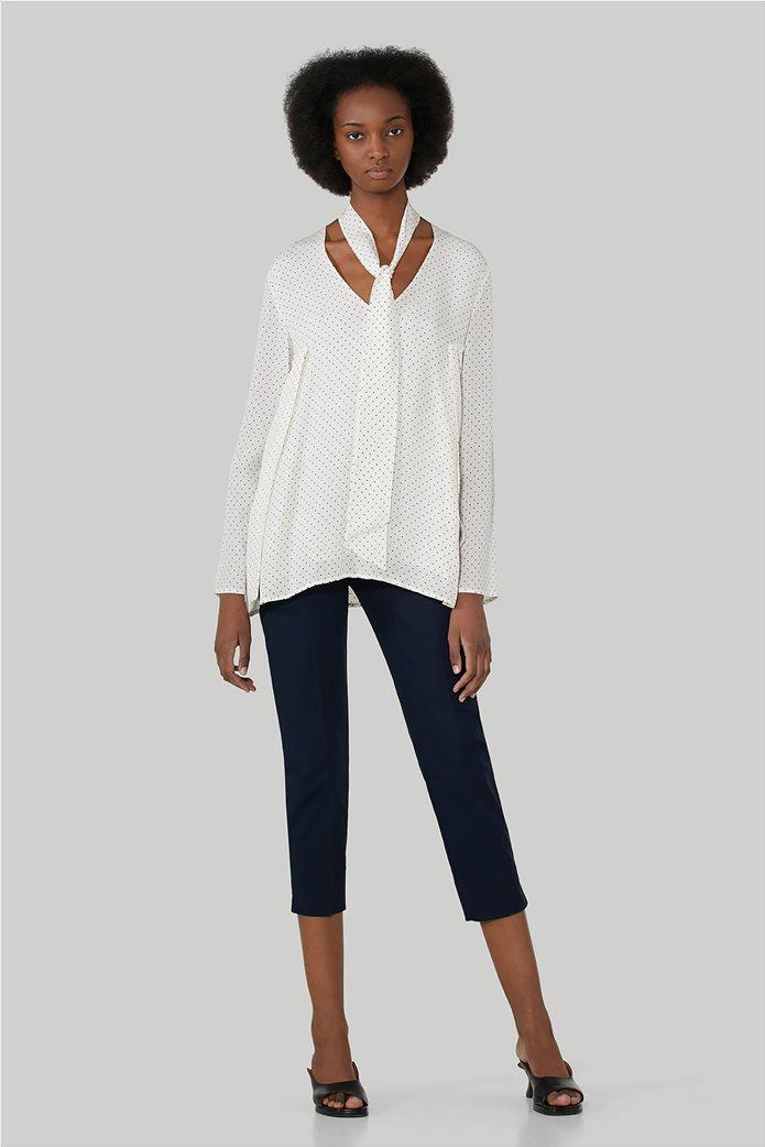 Trussardi Jeans γυναικείο capri παντελόνι με πλαϊνές τσέπες 1