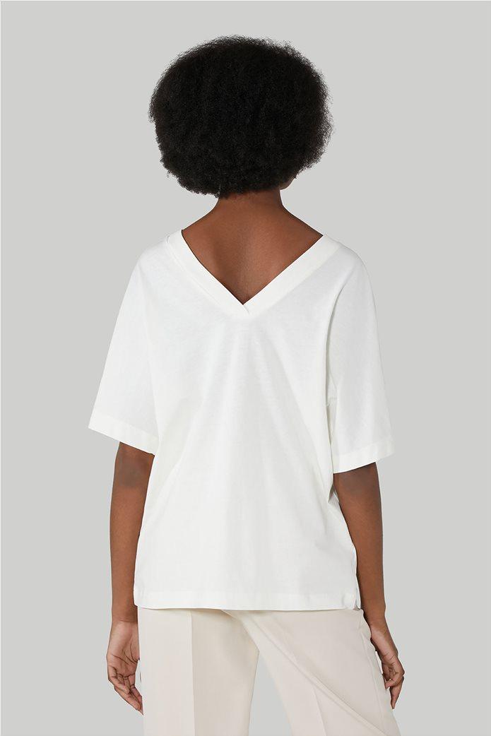 Trussardi Jeans γυναικεία κοντομάνικη μπλούζα με print 2
