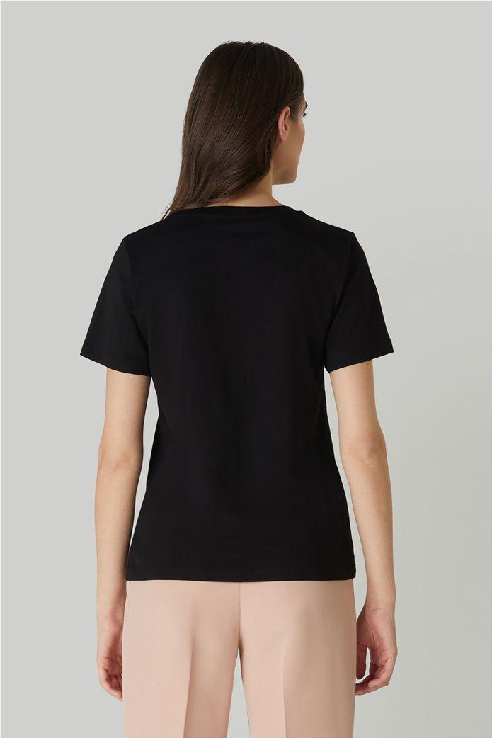 Trussardi Jeans γυναικείο T-shirt με κεντημένο σχέδιο 2