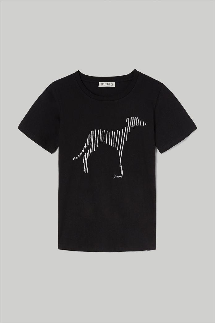 Trussardi Jeans γυναικείο T-shirt με κεντημένο σχέδιο 3