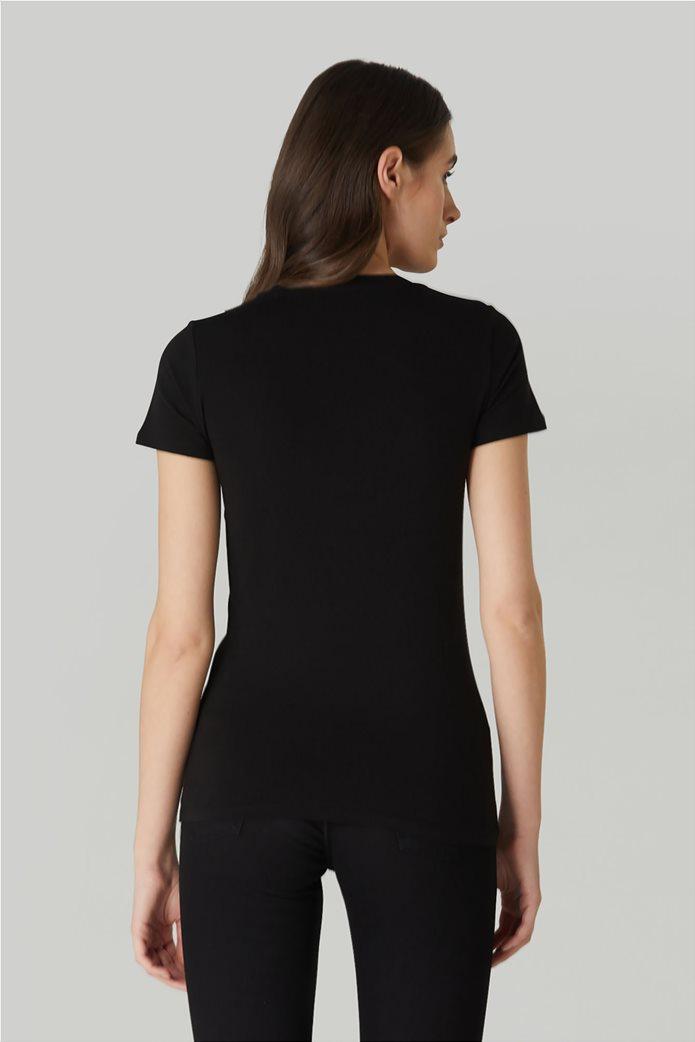 Trussardi Jeans γυναικείο T-shirt με print με στρας 2