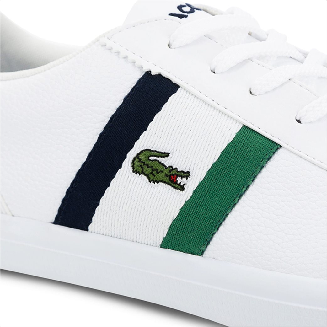 Lacoste ανδρικά sneakers με κορδόνια και ύφασμα Lerond 5