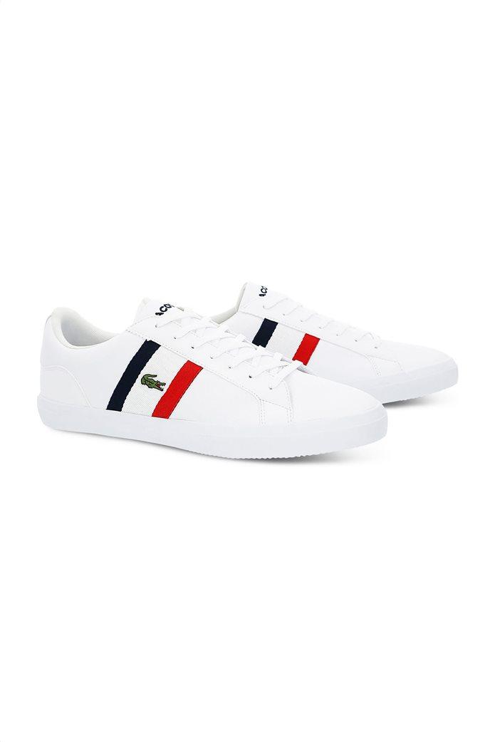 Lacoste ανδρικά sneakers με κορδόνια και κεντημένο λογότυπο Lerond 1