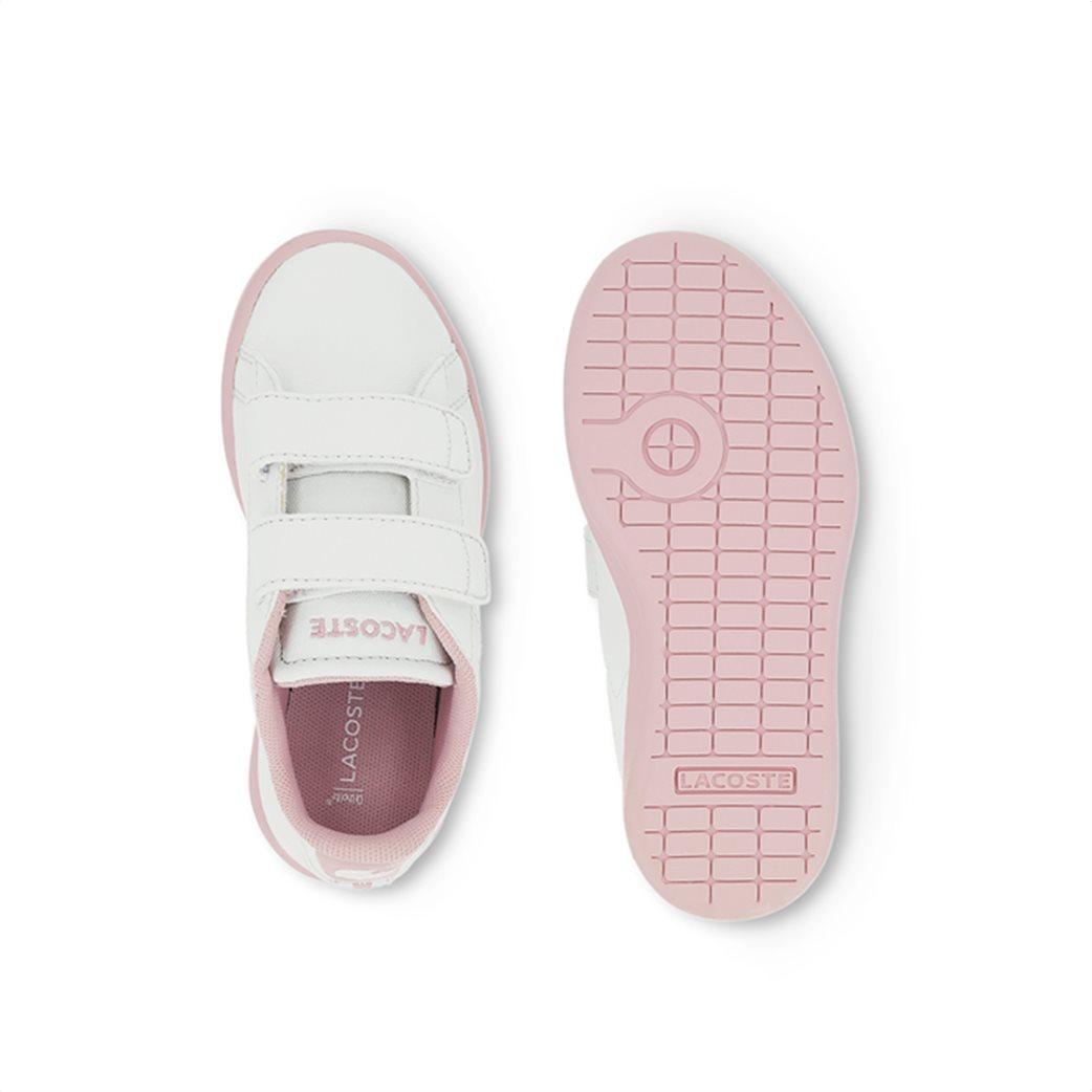Lacoste βρεφικά sneakers με velcro Carnaby Evo 3