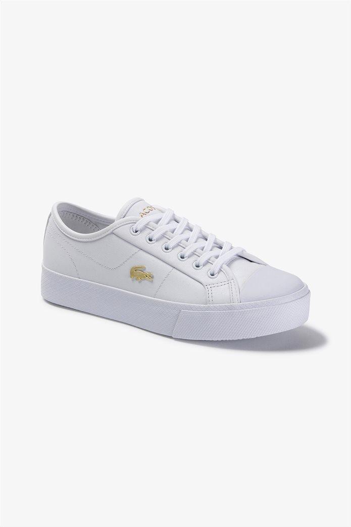 "Lacoste γυναικεία δίσολα sneakers ""Ziane Plus Grand 1201"" Λευκό 0"