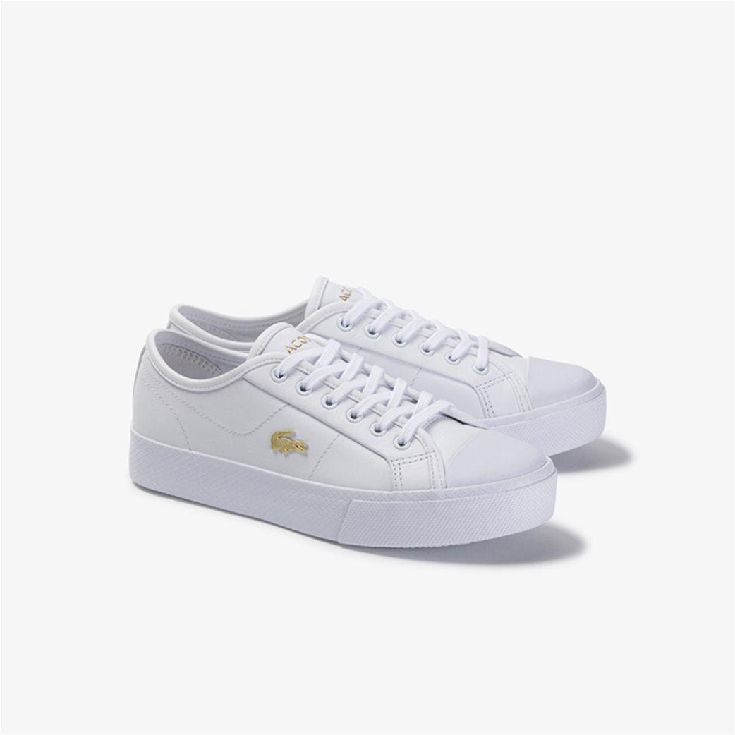 "Lacoste γυναικεία δίσολα sneakers ""Ziane Plus Grand 1201"" Λευκό 1"