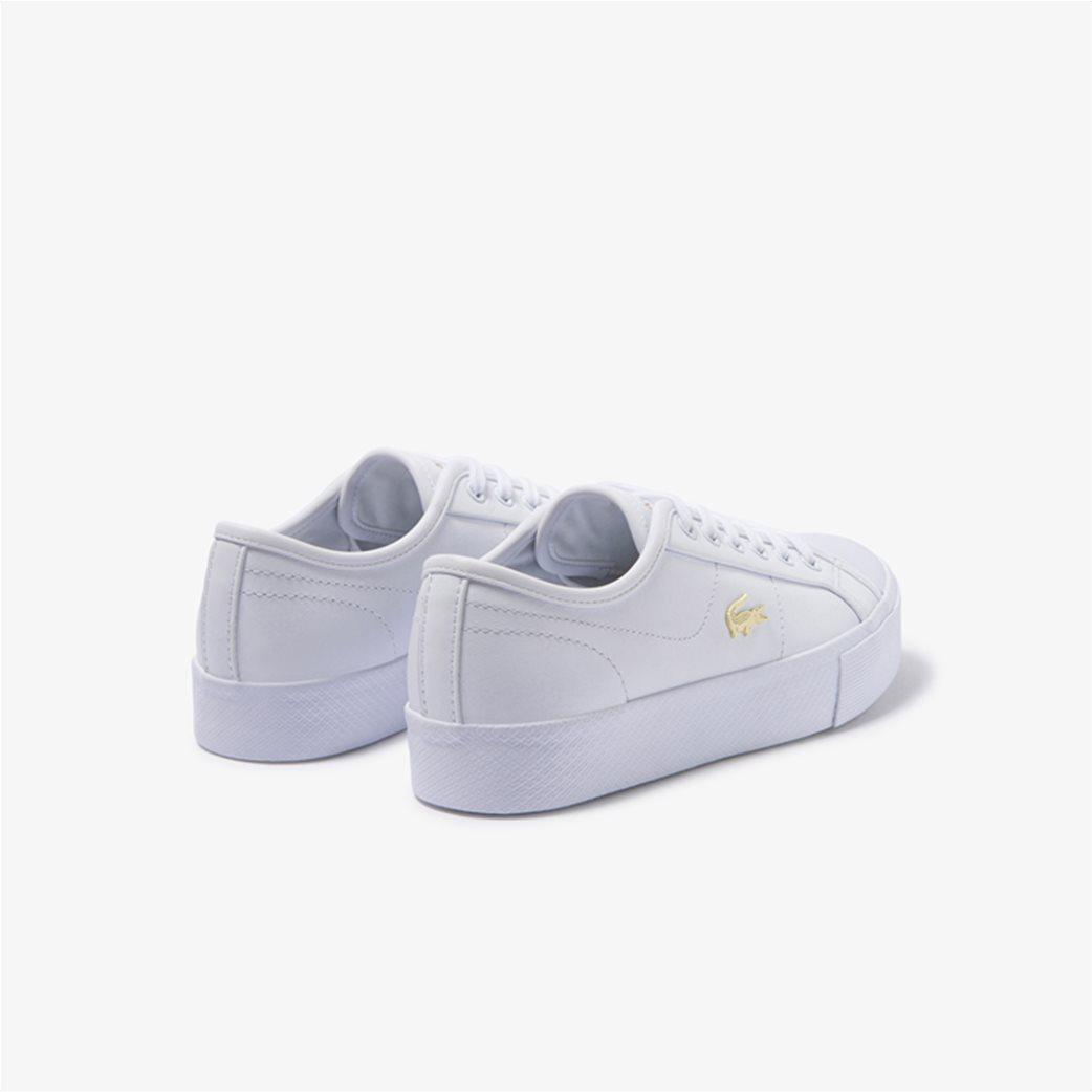 "Lacoste γυναικεία δίσολα sneakers ""Ziane Plus Grand 1201"" Λευκό 2"