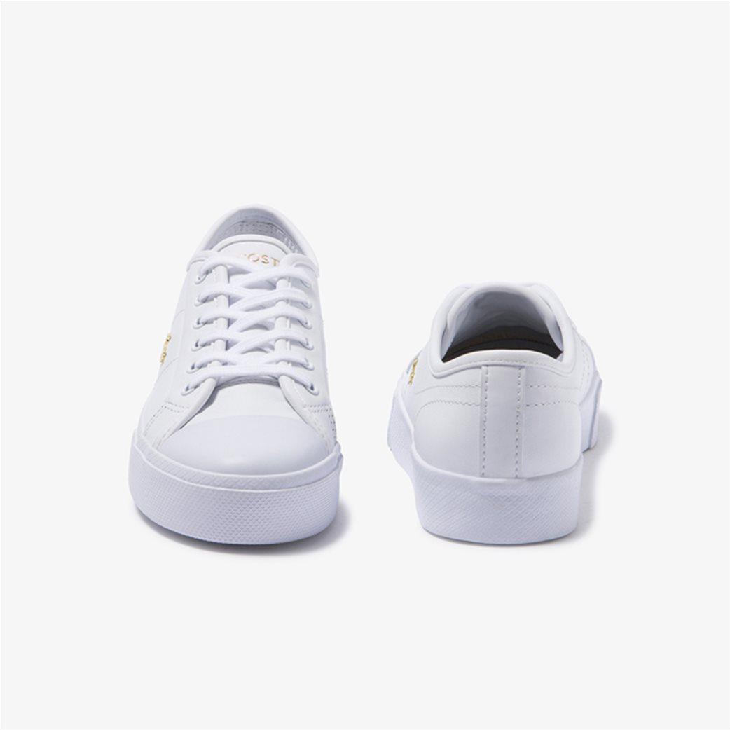 "Lacoste γυναικεία δίσολα sneakers ""Ziane Plus Grand 1201"" Λευκό 4"
