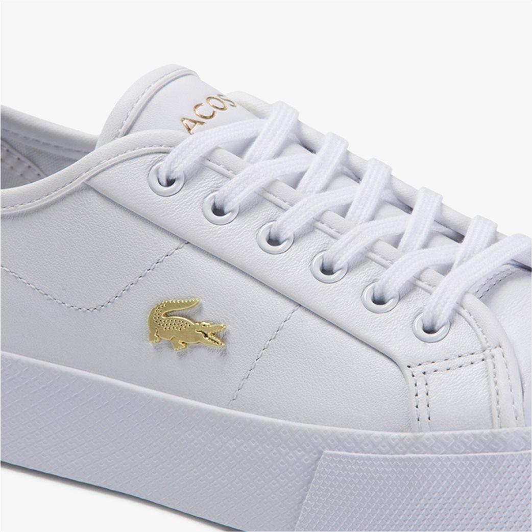 "Lacoste γυναικεία δίσολα sneakers ""Ziane Plus Grand 1201"" Λευκό 5"