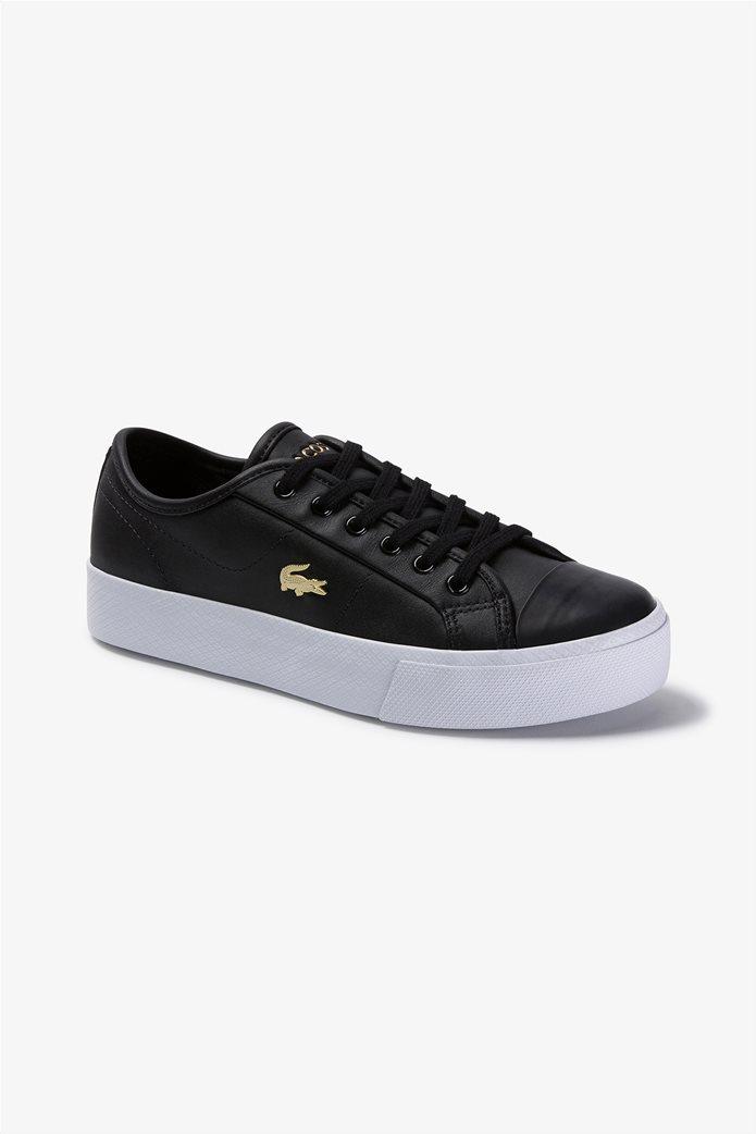 "Lacoste γυναικεία δίσολα sneakers ""Ziane Plus Grand 1201"" Μαύρο 0"