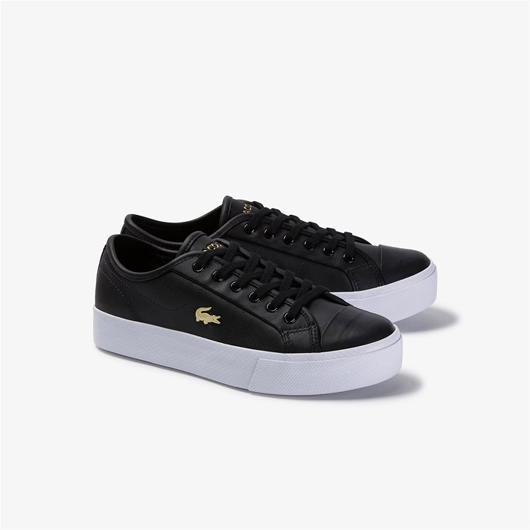 "Lacoste γυναικεία δίσολα sneakers ""Ziane Plus Grand 1201"" Μαύρο 1"