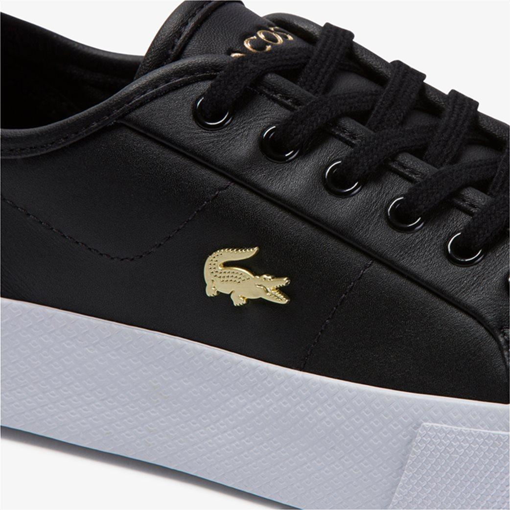 "Lacoste γυναικεία δίσολα sneakers ""Ziane Plus Grand 1201"" Μαύρο 5"