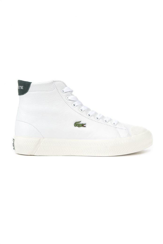 "Lacoste γυναικεία δερμάτινα sneakers μποτάκια ""Gripshot Hi Top Mid"" Λευκό 0"