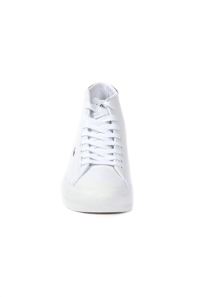 "Lacoste γυναικεία δερμάτινα sneakers μποτάκια ""Gripshot Hi Top Mid"" Λευκό 1"