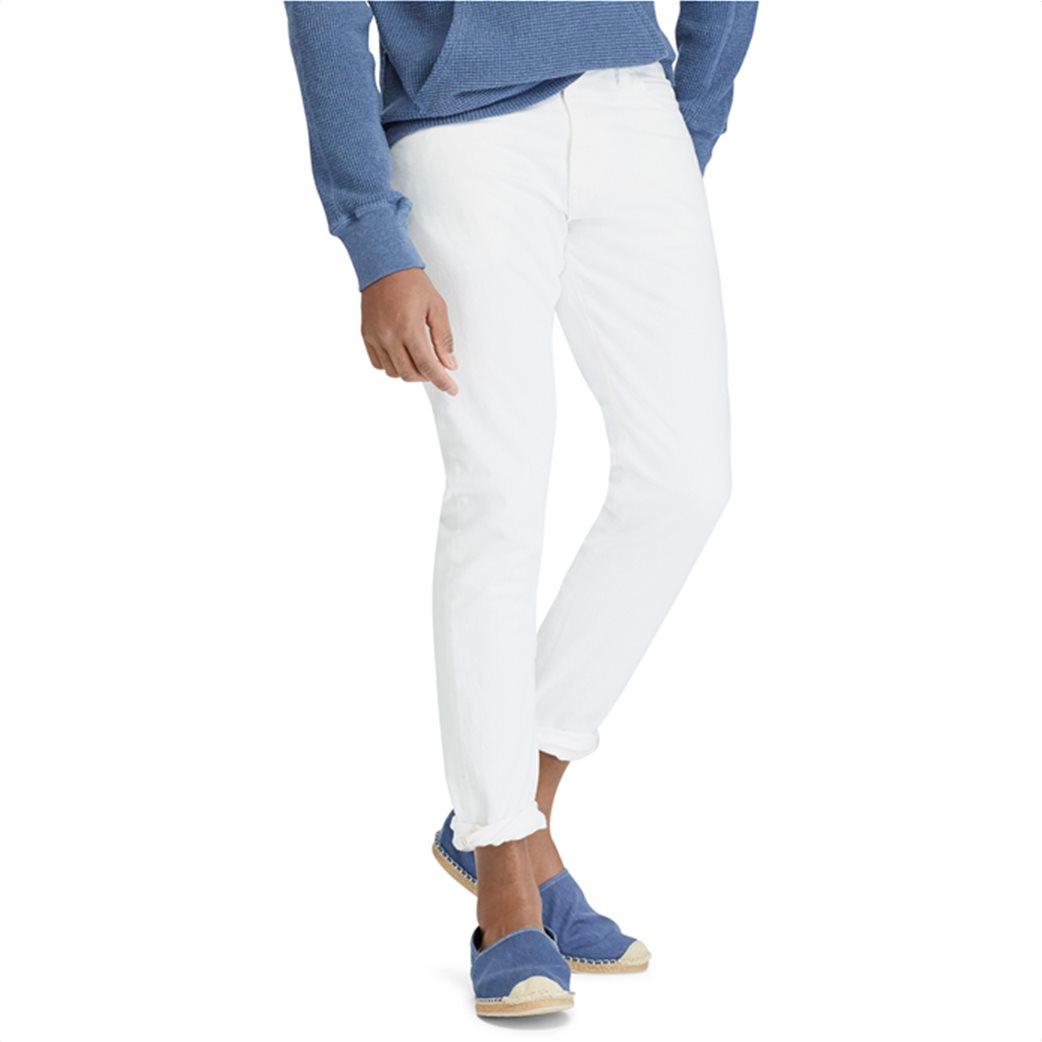 Polo Ralph Lauren ανδρικό τζην παντελόνι λευκό Sullivan Slim Stretch 1