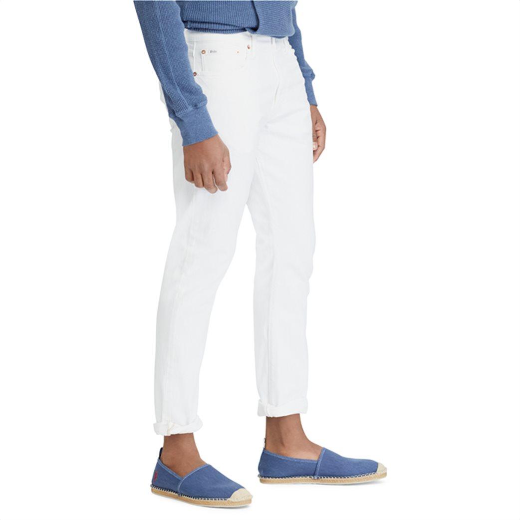 Polo Ralph Lauren ανδρικό τζην παντελόνι λευκό Sullivan Slim Stretch 2