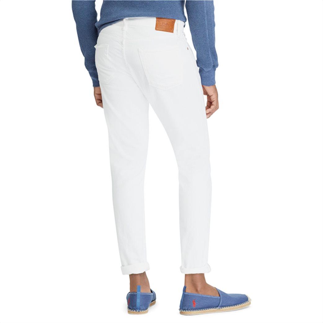 Polo Ralph Lauren ανδρικό τζην παντελόνι λευκό Sullivan Slim Stretch 3