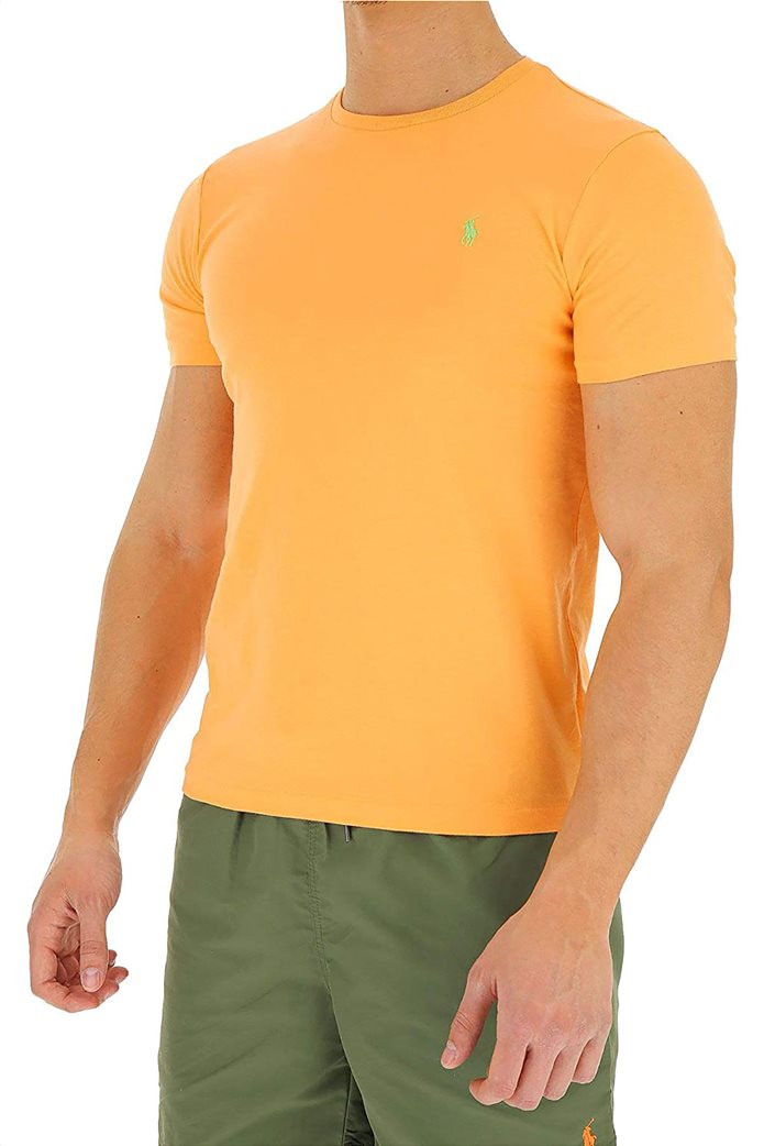 Polo Ralph Lauren ανδρικό μονόχρωμο T-shirt Custom Slim Πορτοκαλί 1