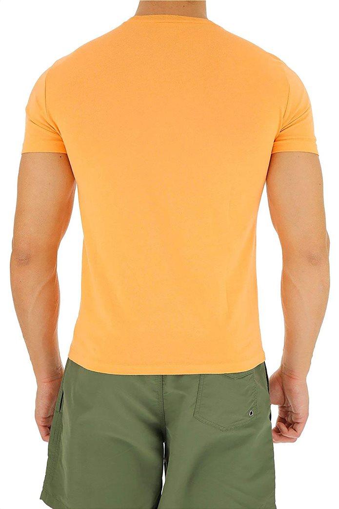 Polo Ralph Lauren ανδρικό μονόχρωμο T-shirt Custom Slim Πορτοκαλί 2