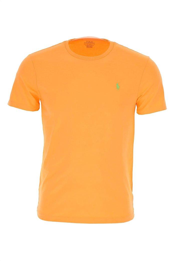 Polo Ralph Lauren ανδρικό μονόχρωμο T-shirt Custom Slim Πορτοκαλί 3