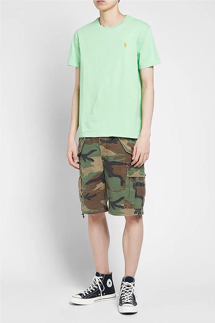 Polo Ralph Lauren ανδρικό μονόχρωμο T-shirt Custom Slim Fit Πράσινο Ανοιχτό 1