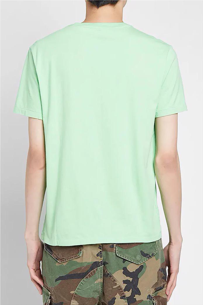 Polo Ralph Lauren ανδρικό μονόχρωμο T-shirt Custom Slim Fit Πράσινο Ανοιχτό 2