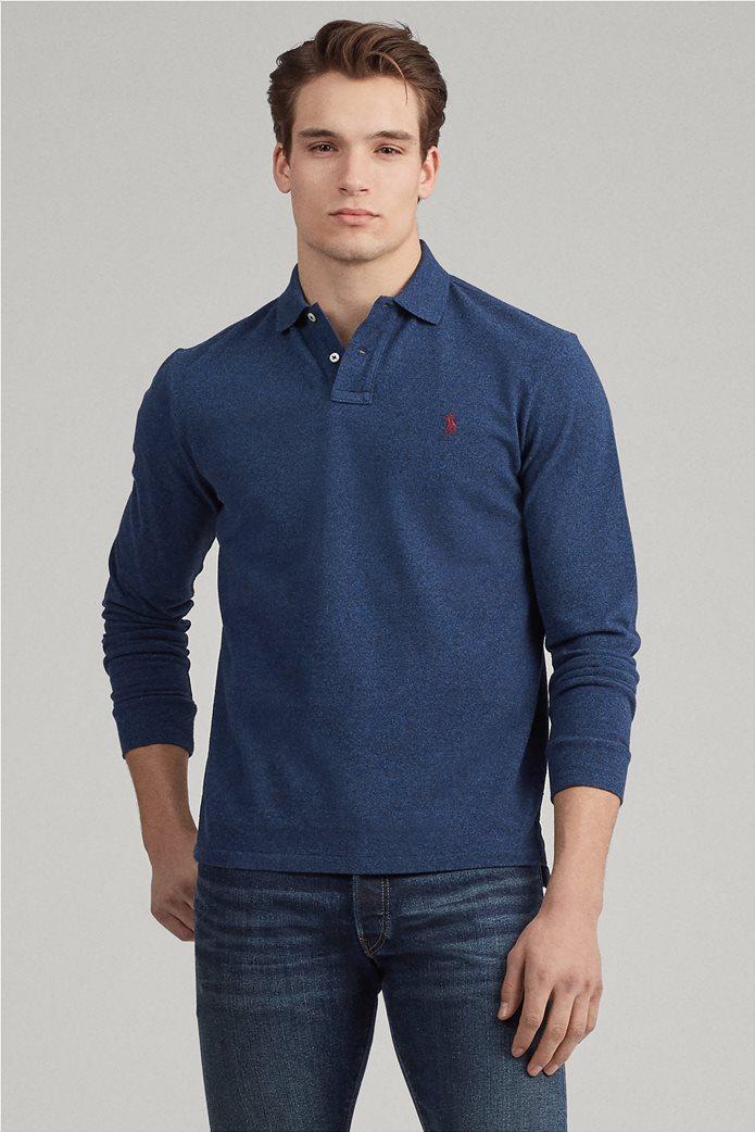 Polo Ralph Lauren ανδρική μπλούζα πόλο mesh Slim Fit 0