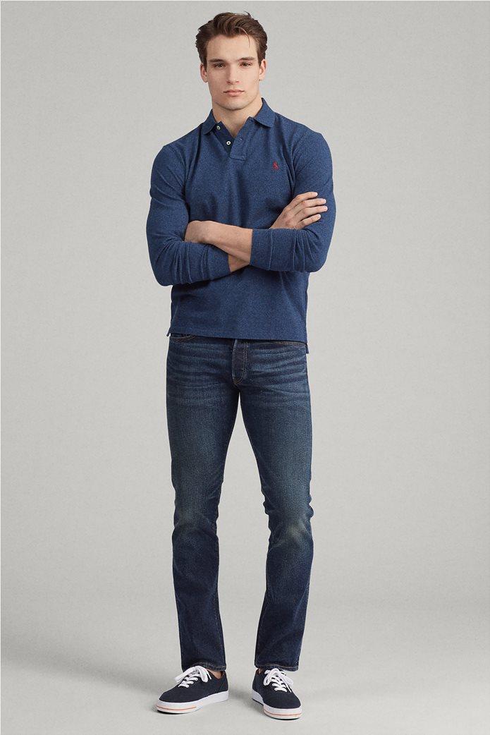 Polo Ralph Lauren ανδρική μπλούζα πόλο mesh Slim Fit 2