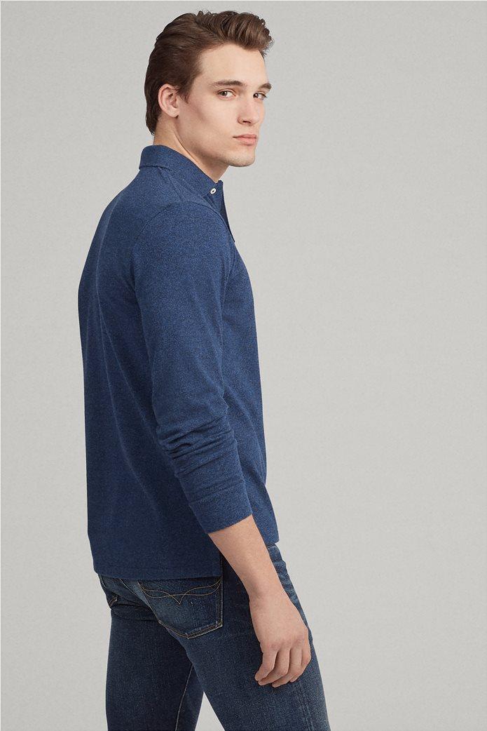 Polo Ralph Lauren ανδρική μπλούζα πόλο mesh Slim Fit 3