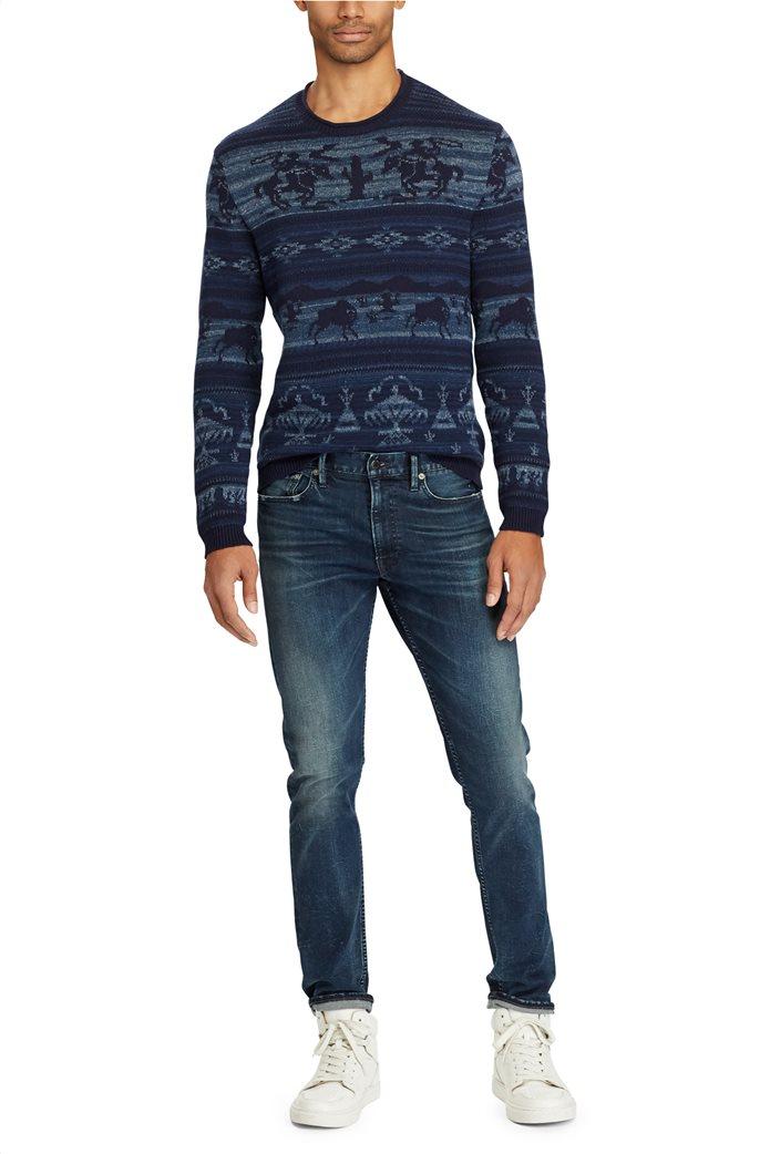 Polo Ralph Lauren ανδρικό τζην παντελόνι μπλε σκούρο Sullivan Slim Performance 0