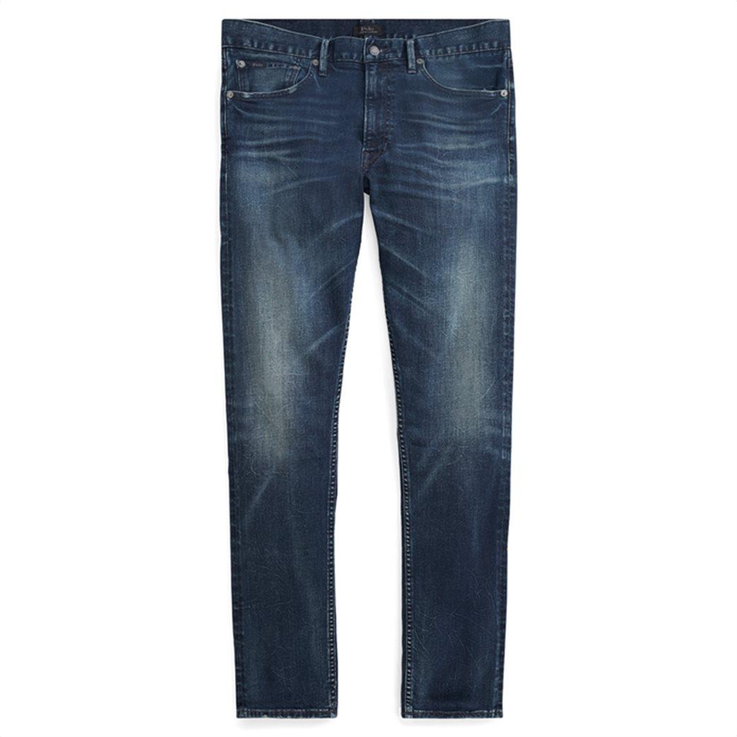 Polo Ralph Lauren ανδρικό τζην παντελόνι μπλε σκούρο Sullivan Slim Performance 1