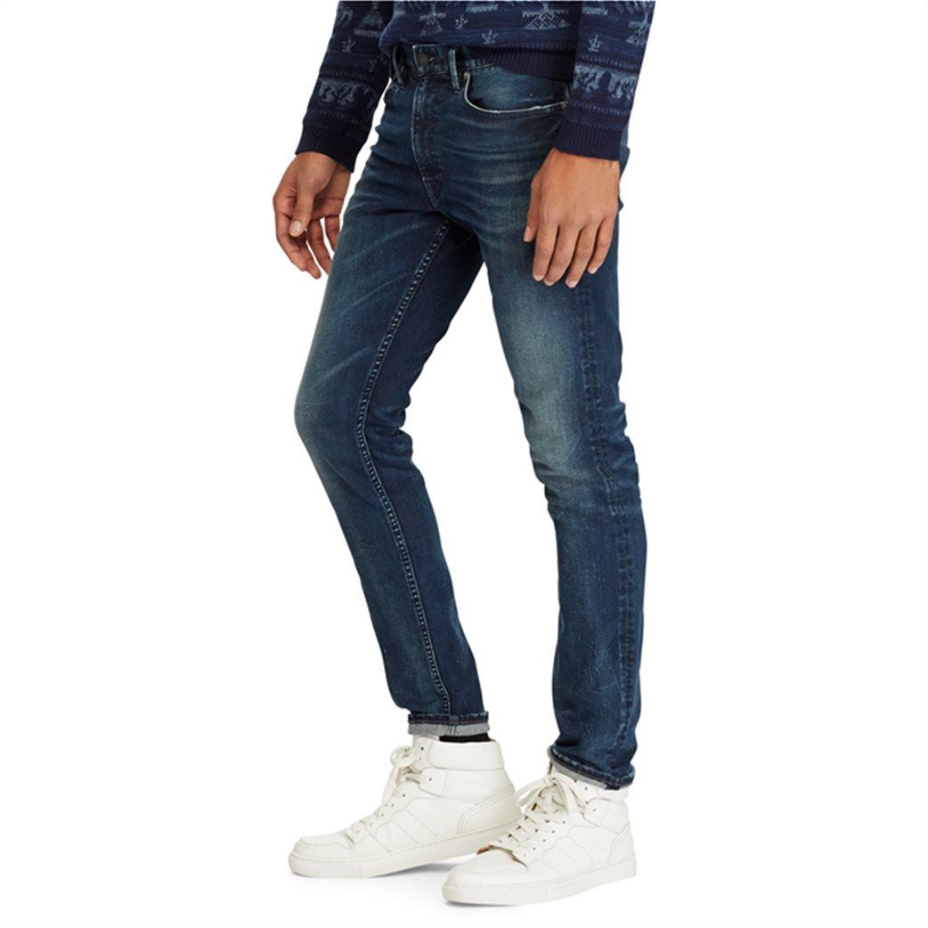 Polo Ralph Lauren ανδρικό τζην παντελόνι μπλε σκούρο Sullivan Slim Performance 4