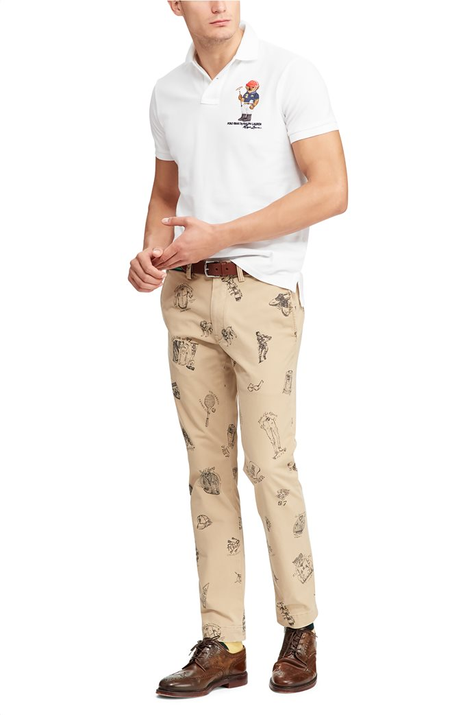 Polo Ralph Lauren ανδρική μπλούζα πόλο Custom Slim Fit Bear 2