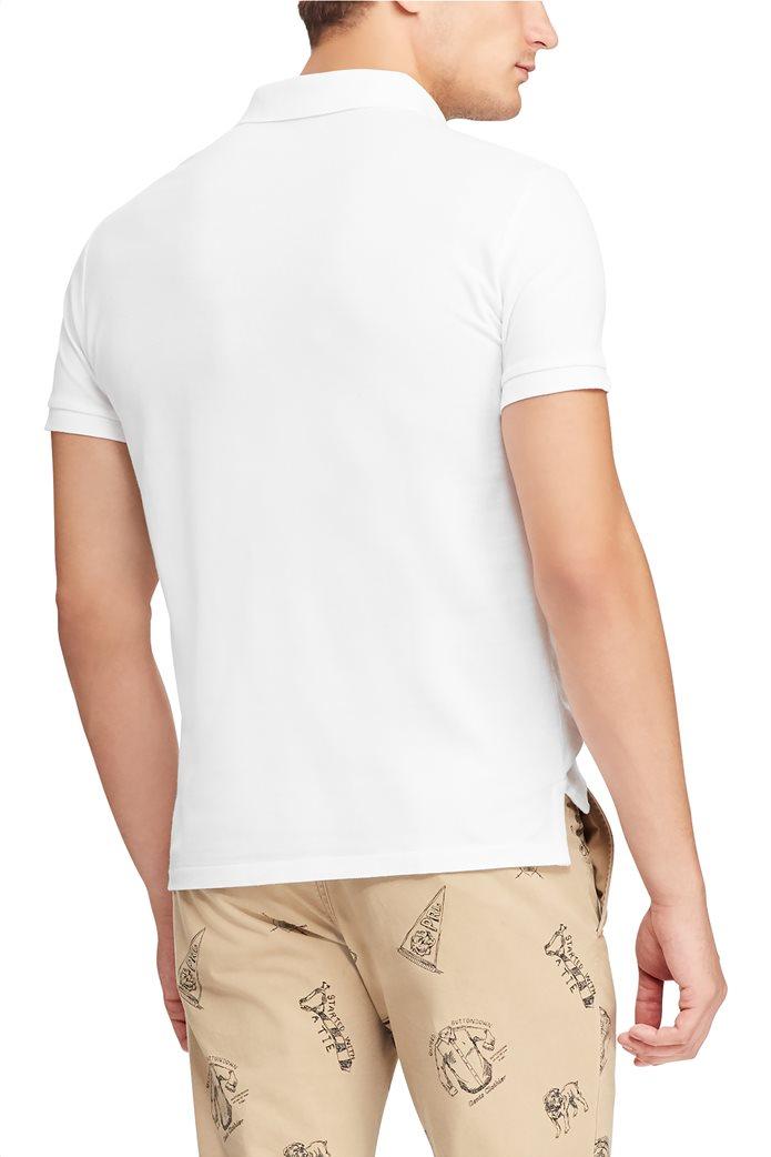 Polo Ralph Lauren ανδρική μπλούζα πόλο Custom Slim Fit Bear 4