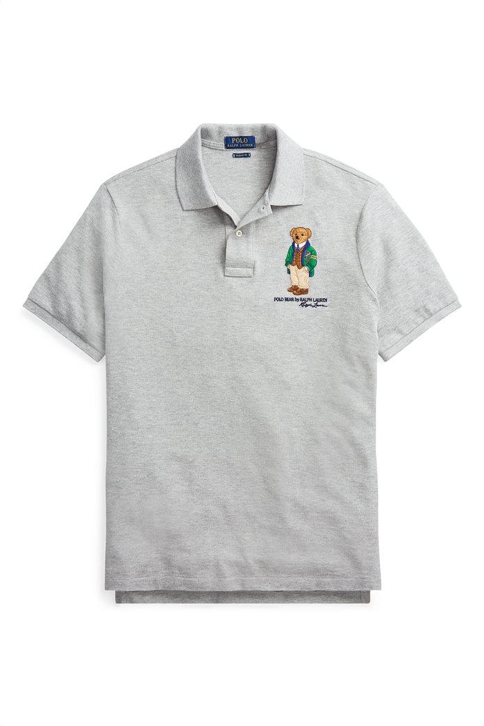 Polo Ralph Lauren ανδρική μπλούζα πόλο Custom Slim Fit Bear 1