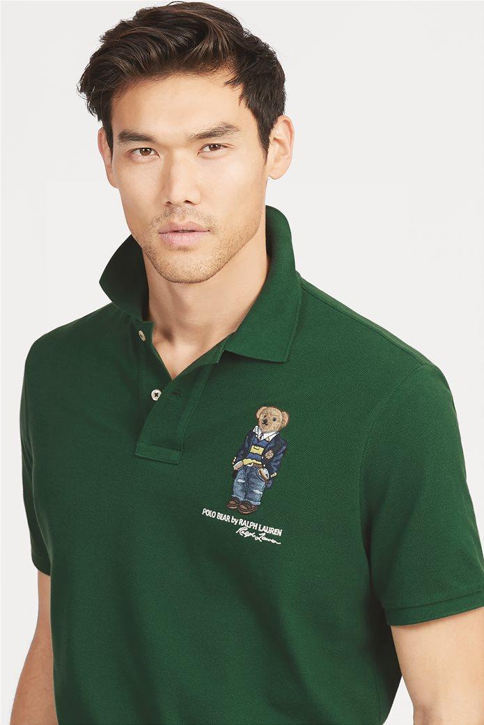 Polo Ralph Lauren ανδρική μπλούζα πόλο Custom Slim Fit Bear 0
