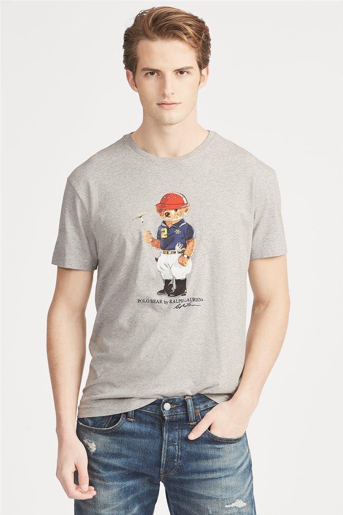 Polo Ralph Lauren ανδρικό T-shirt με στάμπα Classic Fit Polo Bear 0