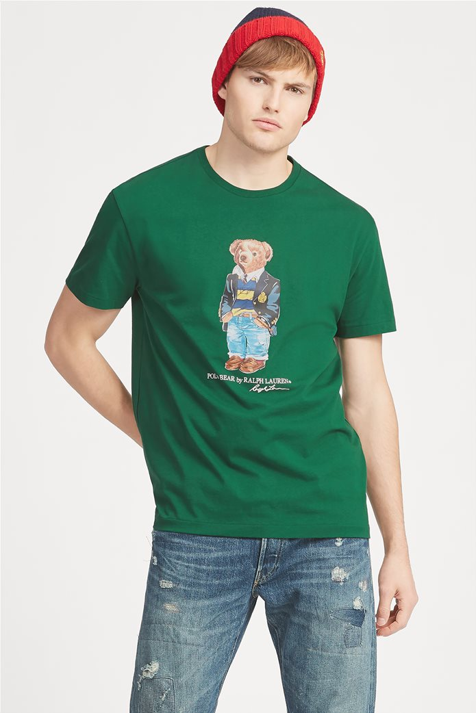 Polo Ralph Lauren ανδρικό T-shirt με στάμπα Classic Fit Polo Bear 0