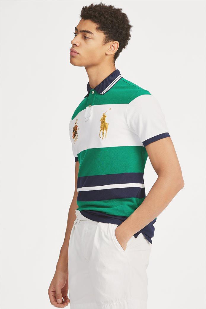 "Polo Ralph Lauren ανδρική ριγέ μπλούζα πόλο με κέντημα ""R.L. 1924 Ralph Lauren"" 0"