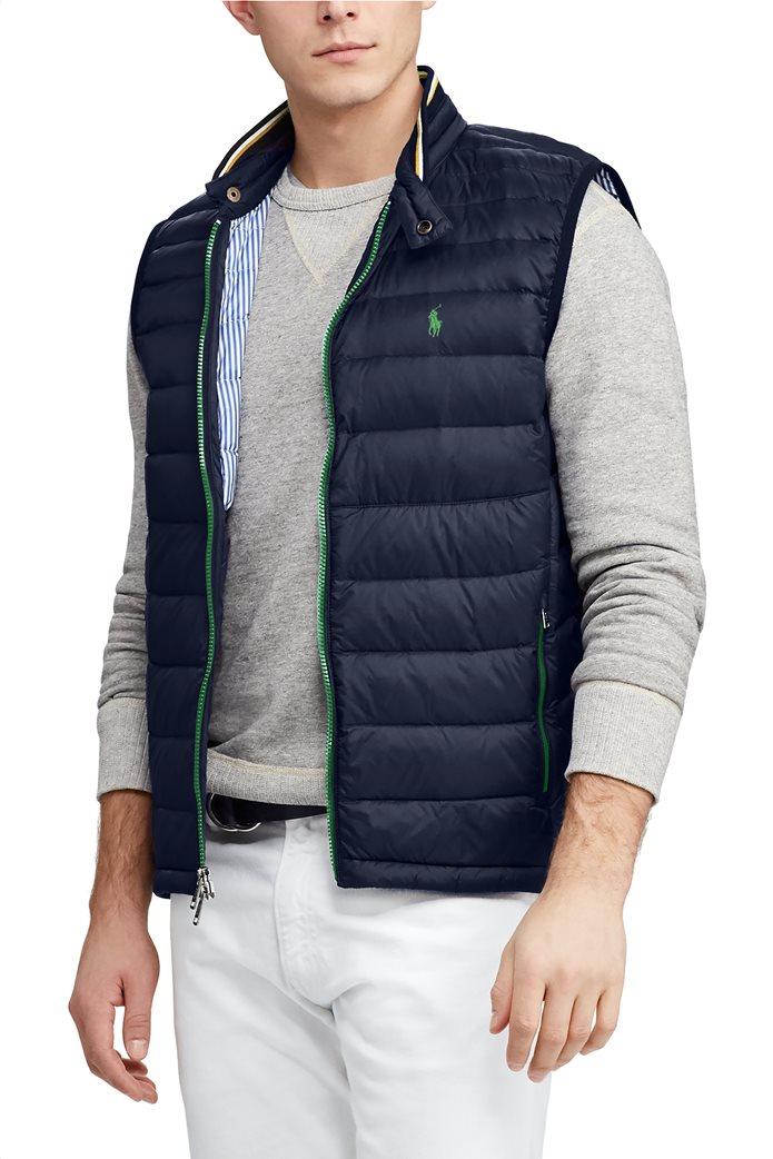 5c2af7557eb7 Polo Ralph Lauren ανδρικό αμάνικο μπουφάν καπιτονέ με χρωματιστό φερμουάρ  Packable Quilted 3