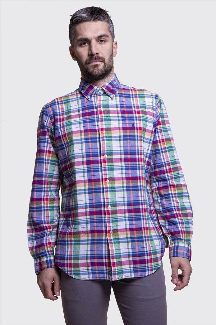 Polo Ralph Lauren ανδρικό καρό πουκάμισο Classic Fit Πολύχρωμο 0