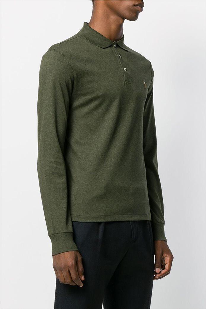 Polo Ralph Lauren ανδρική μπλούζα μακρυμάνικη πόλο Slim fit 2