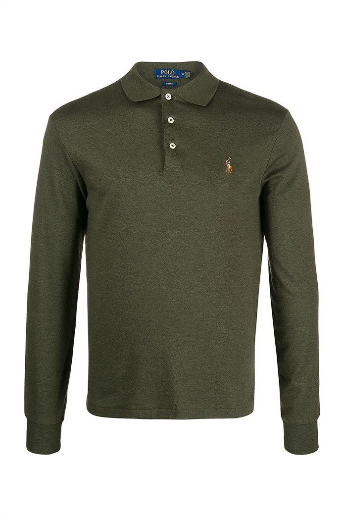 Polo Ralph Lauren ανδρική μπλούζα μακρυμάνικη πόλο Slim fit 4