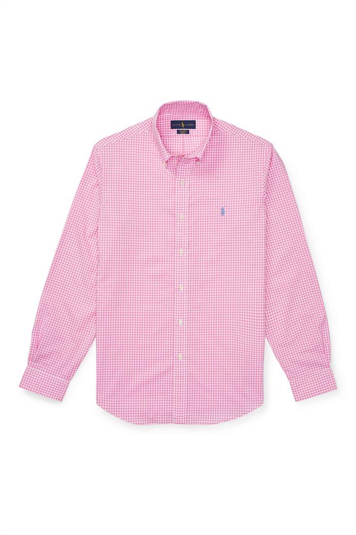Polo Ralph Lauren ανδρικό πουκάμισο με μικροσχέδιο καρό Classic Fit Gingham 1